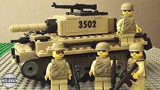 Heavy Armor KM-10 Main Battle Tank Set 4 Army minifigure soldiers Lego parts Set