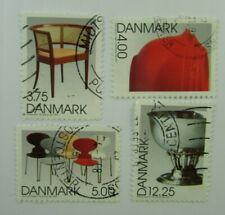 1997 Denmark Sc #1082-85 Danish Designs Used stamp set