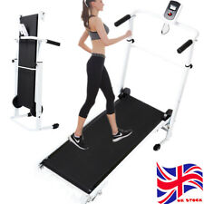 0c89f564dfc Folding Manual Treadmill Walking Machine Cardio Fitness Exercise Incline  Home UK