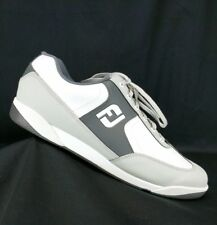 FootJoy GreenJoys mens size 11.5 M spikeless golf shoes white gray 45332