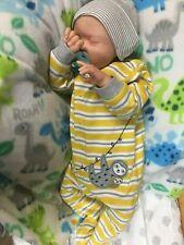 "reborn baby newborn doll boy miranda kit by melody hess 21"" therapy doll"