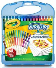 Crayola Super Tips Washable Markers and Paper Kit - 65 Piece Set