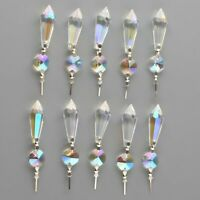 10pcs 38mm Rainbow Chandelier Glass Crystal Lamp Prisms Hanging Drops Pendants
