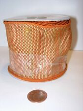 """9 feet orange rust gold 2 1/2"""" wide Ribbon Party Supplies woven craft wire edge"""