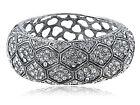 GB Antique Silver Elements Crystal Tarnished Cuff Bracelet
