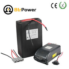 BtrPower 16S 48V 20Ah LiFepo4 Lithium Battery Pack for 1000W Electric Bike 50A