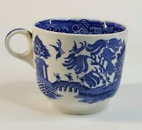 Blue Willow Antique Mug England Coffee Cup Transferware Willowware