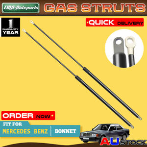 A Pair Bonnet Gas Struts for Mercedes Benz W201 190 190E 190D 1982-1993 Sedan