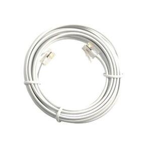 3m WHITE ADSL Phone Broadband Router Modem Cable RJ11 to RJ11 6p4c Plug