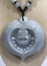 Handcrafted knot work cord adjustable jade Buddha pendant/necklace