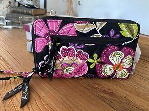 Vera Bradley Zip Around Wallet/Clutch C/C Holder Fits Phone