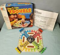 Vintage 1986 TROUBLE POP-O-MATIC Board Game COMPLETE