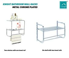 KNIGHT Metal Chrome Plated Stylish Bathroom Wall Rack Available in 2 Design