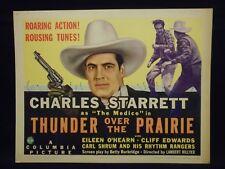 Charles Starrett Thunder Over The Prairie 1941 Title Lobby Card Fine Western