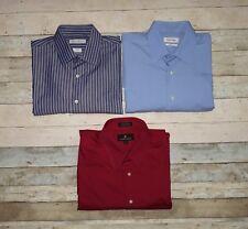 Valerio Garati Calvin Klein Burma Bibas Lot 3 Shirts Long Sleeve Size Large