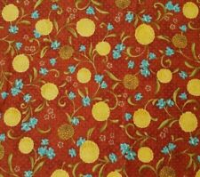 Glow BTY Gudrun Erla Red Rooster Golden Yellow Blue Floral Polka Dot Rust