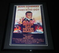 Never Say Never Again James Bond Framed 11x14 Repro Movie Poster Display Connery