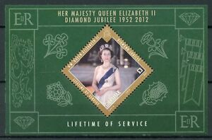 Gibraltar Royalty Stamps 2012 MNH Queen Elizabeth II Diamond Jubilee 1v M/S