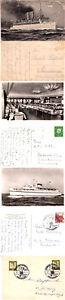 GERMAN PASSENGER SHIP DS DEUTSCHLAND 3 SHIPS CACHED POSTCARDS & CARD 1930's on
