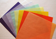 🌸 12 x 12 Holiday Fall Party Vellum Paper Deluxe Pack yellow green orange peach
