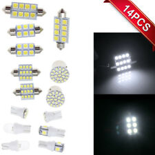 14 White LED T10 36mm Map Dome License Brake Light Bulb for Interior Package Kit