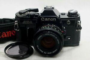 Canon AE-1 Film Camera Black w/ FD 50mm f1.8 lens *Near Mint*