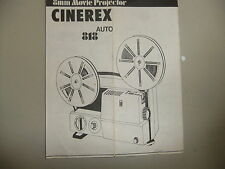 Instructions cine projector CINEREX auto 818 8mm  - CD/Email