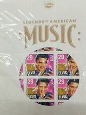 Sealed ELVIS PRESLEY 40 STAMP SHEET + LP Record SLEEVE 29 Cent Scott 2721 PO9916