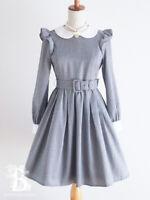 🌹Ank Rouge🌹Peter Pan Collar Houndstooth Dress Romantic Lolita Japan F550