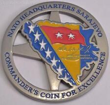 Commander MG Richard Wightman Challenge Coin NATO HQ Sarajevo ERROR Misprint