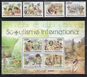 Burundi 921-25 Boy Scouts Mint NH