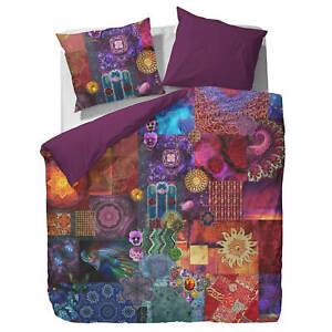 Essenza Bettwäsche Delhi purple Satin Digitaldruck Oriental lila Patchwork Dehli
