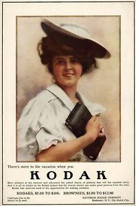 "Kodak advertising poster from the 1910s   11.7"" x 16.5"""