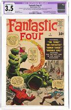 Fantastic Four #1 (Mar 1963, Marvel Comics) CGC 3.5 VG- | 1st Origin Fantastic F