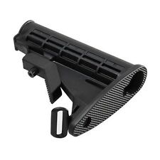 Tactical .223 5.56 Collapsible Butt Stock Mil-Spec 6 Position Heavy Duty Polymer