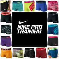 "NIKE PRO SHORTS Women's 3"" Compression Shorts Spandex 2.0 3.0 NEW ~BEST PRICE~"