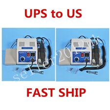2 X Marathon Dental Lab Pulido Micromotor Motor N3 + 35K RPM Polishing Handpiece