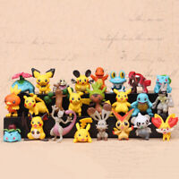 24Pcs Tomy Different Styles Pokemon Figures Model Collection 2-3cm Pokémon Pikac