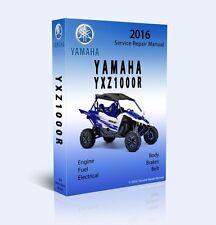 2016 YAMAHA YXZ1000R Full Service Shop Repair Manual CD ONLY