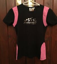 V8 SUPERCARS AUSTRALIA 500 BLACK & PINK T-SHIRT TOP SIZE 12