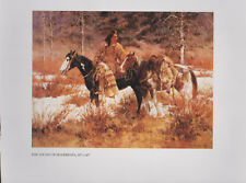 """Roy Anderson, Native American Print   """"The Sound of Hoofbeats""""   - Western Art"""
