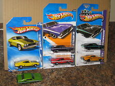 Hot Wheels Lot of 6 1973 Ford Falcon XB Coupe Variation '73 Mystery All Stars