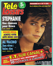 ▬►TÉLÉ LOISIRS 267/1991 STEPHANIE MONACO_E.T & SPIELBERG_GRACE JONES_NOIR DESIR
