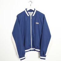 Vintage Women's FILA Zip Up Small Logo Windbreaker Jacket Blue   UK 16