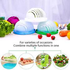 Tazón De Fuente De Ensalada Cortador de vegetales y frutas Tazón de corte saludable fresheasy tooperanwus