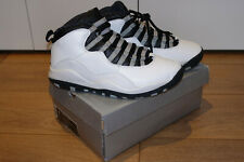 Air Jordan 10 Retro X 2005 White Black Steel Grey Shoes NBA Game Size UK 8 US 9