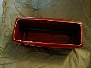 """EXCELLENT COND VINTAGE McCoy Box Basketweave Planter - 8.5""""L x 3.5""""H"""