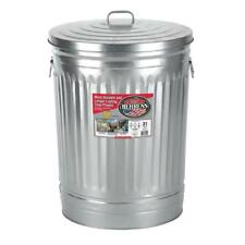 31 Gallon Can Metal Trash Galvanized Steel Lid Garbage Storage Outdoor Outside