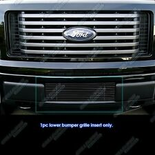 2009-2014 Ford F-150 Black Powdercoated Lower Billet Grille New Free Shipping