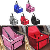 Pet Car Seat Belt Booster Carrier Basket Dog Cat Safety Travel Bag Mat Foldable